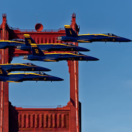 Six Angels by Raphael RaCcoon - Transportation Airplanes ( airplane, jet, blue angels )