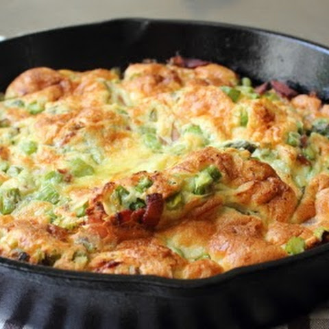 Bacon & Asparagus Dutch Baby, Baby!