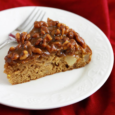 Caramel Pear & Walnut Cake