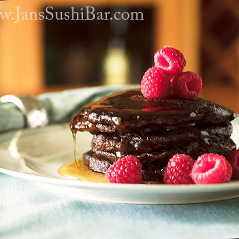 Chocolate-Raspberry Pancakes