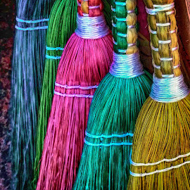 brooms by Eseker RI - Artistic Objects Still Life
