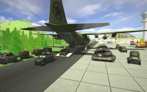 Army Car Plane Simulator 2017 - screenshot