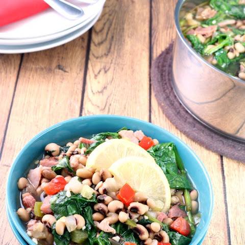 Black Eyed Peas with Ham and Greens