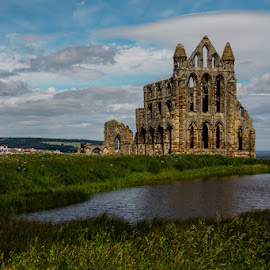 Whitby Abbey by Andrew Lancaster - Buildings & Architecture Places of Worship ( abbey, beautiful, grass, church, dracula, whitby, worship, building, landscape, stone )