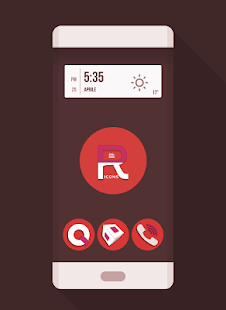 OJ Red - Round Icon pack- screenshot thumbnail