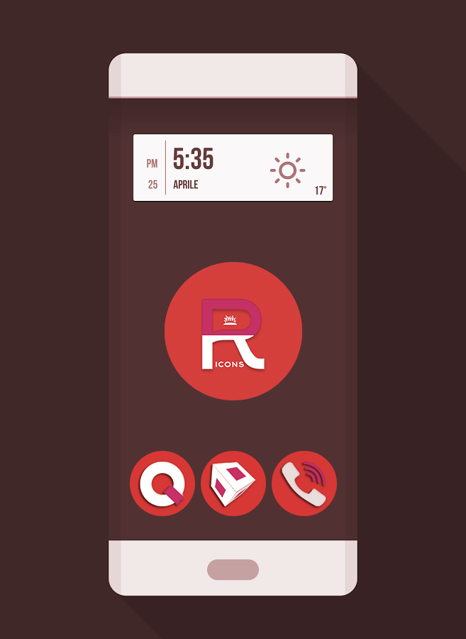 OJ Red - Round Icon pack Screenshot 0