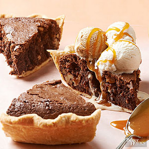 Brownie-Walnut Pie