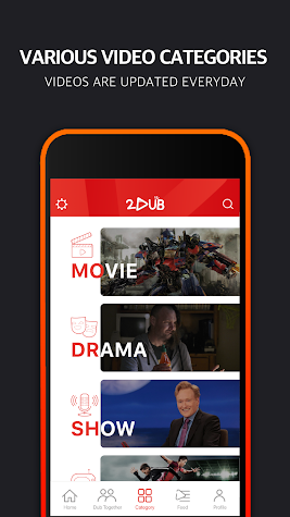 2DUB - Improve your speaking with acting Screenshot