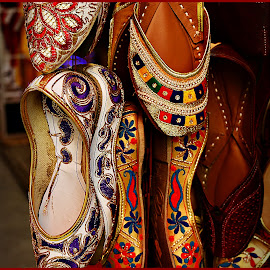 Jooties2 by Prasanta Das - Artistic Objects Clothing & Accessories ( ladies, embroidered, sandals, leather )