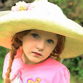 Old Fashioned Hat by Cheryl Korotky - Babies & Children Child Portraits