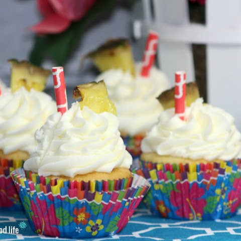 Pineapple Dole Whip Cupcakes