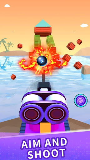 Color ball blast:merge tank and knock down blocks For PC