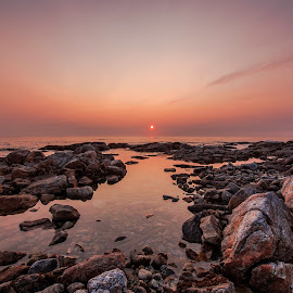 Stones in water by Tor Andreassen - Landscapes Waterscapes