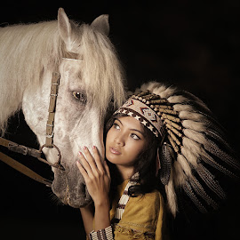 The Chief's Daughter by Lucky E. Santoso - People Portraits of Women