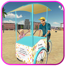 Beach Ice Cream Man