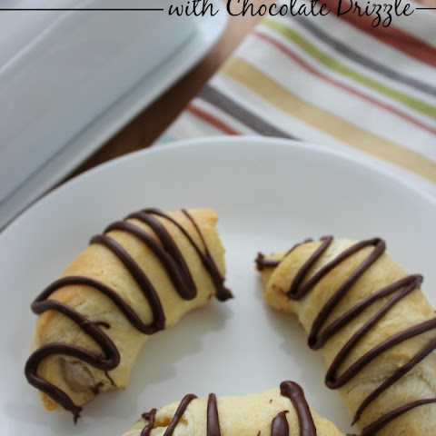 Cream Cheese Crescents with Chocolate Drizzle
