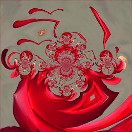 Dragon dance by Kittie Groenewald - Digital Art Abstract