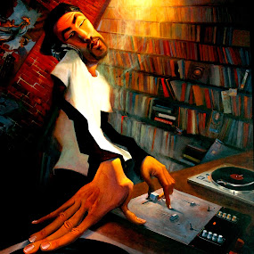 A PAINTING SAYS THE WORLDS NEEDS A DJ........ by Sushant Ojha - Artistic Objects Other Objects