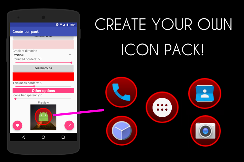 Icon Pack Generator - Create your own icon pack! Screenshot 0