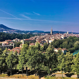 by Phil Bear - City,  Street & Park  Vistas ( bern, city, switzerland, river, europe )