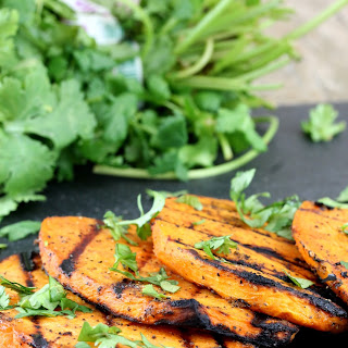 Sweet and Salty Grilled Sweet Potatoes