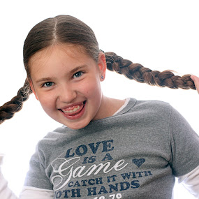 Funny girl by Zenonas Meškauskas - People Family ( face, girl, funny, smile, hair )