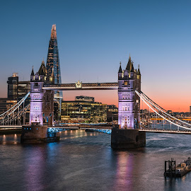 Tower Bridge by Nick Moulds - Buildings & Architecture Bridges & Suspended Structures ( tower, london, night, bridge, dusk )