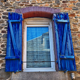 Window by Dobrin Anca - Buildings & Architecture Architectural Detail ( blue sky, window, street, brittany, city )