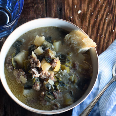 Sausage Potato Leek Soup {No Blender}