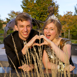 by Scott Knight - People Couples ( love, minnesota, park, julia, crown, prom, eden prairie )
