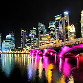 Marina Bay by Andy R Effendi - Buildings & Architecture Bridges & Suspended Structures ( siangapore, night shot )