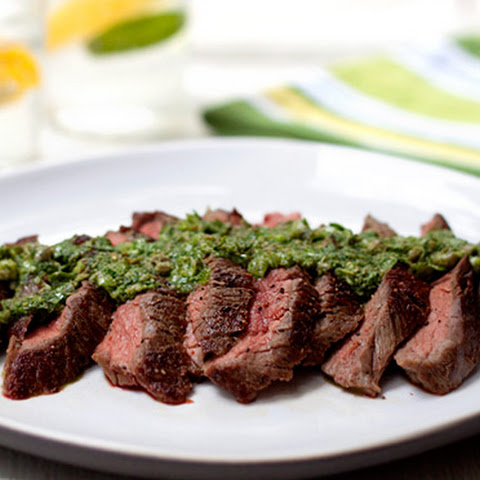 Marinated Skirt Steak with Chimichurri Sauce