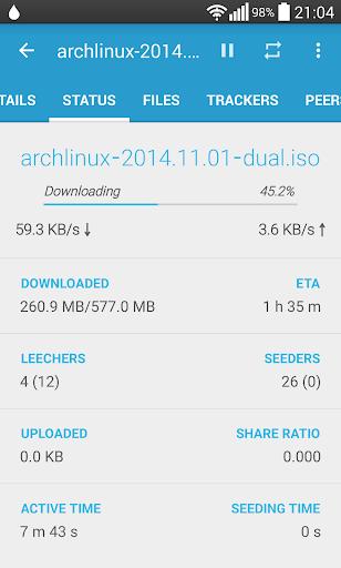 Flud - Torrent Downloader screenshot 3