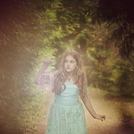 lost in the forest  by Tristen Leck - Babies & Children Child Portraits ( girl, portland rose garden, lost in woods, oregon photographer, birthday girl, cinderella photoshoot )