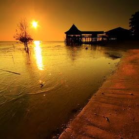 Hot Sunset by Endy Wiratama - Landscapes Sunsets & Sunrises