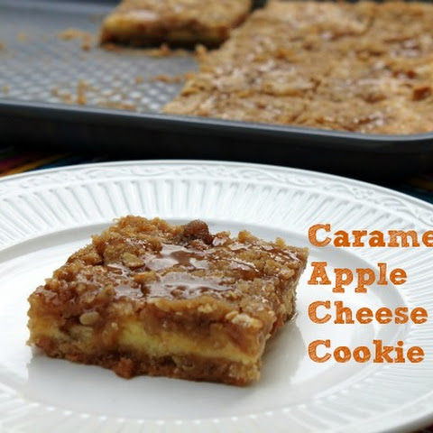Caramel Apple Cheese Cake Cookie Bar