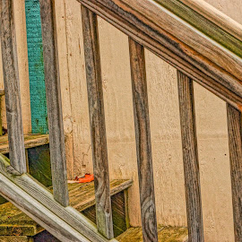 Stairway to Where? by Wendy Alley - Abstract Patterns