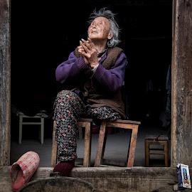 The Prayer of the Children by Jim Harmer - People Street & Candids ( prayer, woman, street, praying, china )