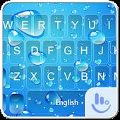 Blue Water Drop Keyboard Theme