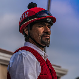 The most interesting man  by Craig Collins - People Portraits of Men ( red, racing, horse, mar, del, man, hat )