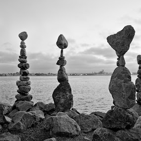Balance by Ro Ducay - Buildings & Architecture Statues & Monuments ( balance, life, stones, rocks, gravity )