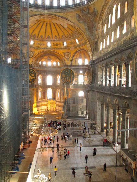 Hagia Sophia Interior from Upper Floor