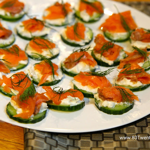 Smoked Salmon Cucumber Bites - Low Carb and Gluten-Free!