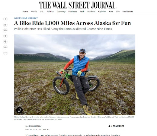 Phil Hofstetter in Nome for the Wall Street Journal