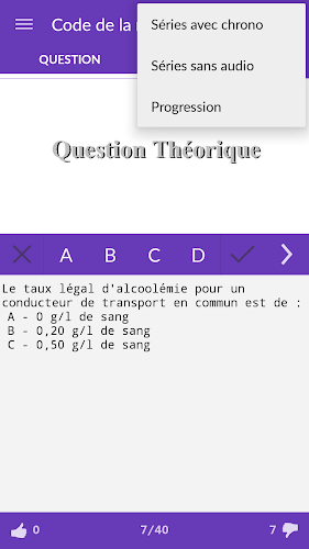 Le Code de la Route (gratuit) Android App Screenshot