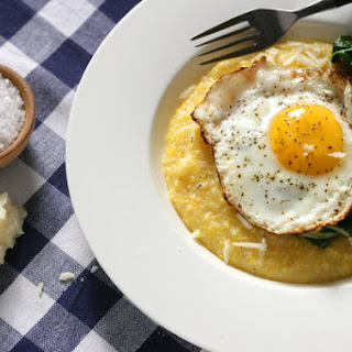 Polenta with Parmesan and Olive Oil Fried Eggs