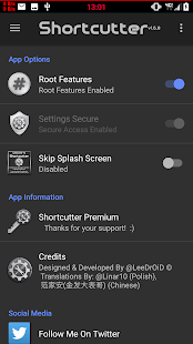 Shortcutter - Quick Settings Screenshot