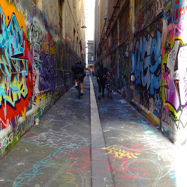 Melbourne Abstract  by Samantha Portelli - City,  Street & Park  Street Scenes ( photo stream )