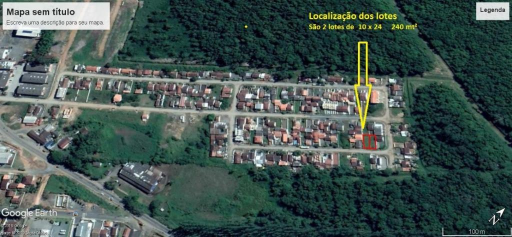 Terreno à venda, 240 m² por R$ 80.000,00 - Itinga - Araquari/SC