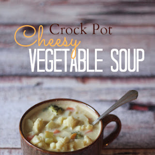 Crock Pot Cheesy Vegetable Soup